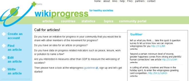 Wikiprogress