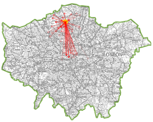 Commuting map of London