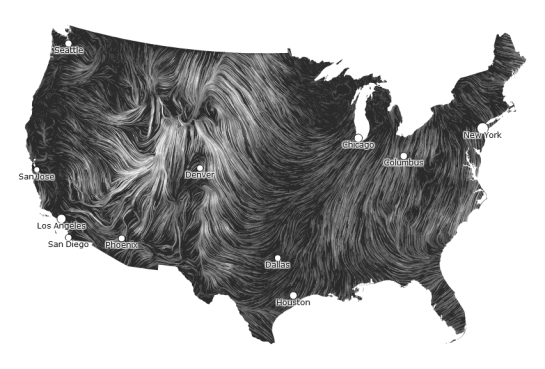 Real-time Stats: Wind Map